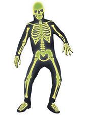 Men's Carnival Costume Holiday Halloween Skeleton Fluo Smiffys 09021