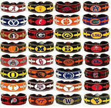 leather football bracelet NCAA PICK YOUR TEAM gamewear team color