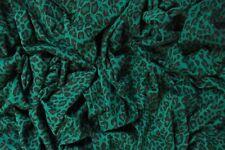 "GREEN LEOPARD JERSEY STRETCH FABRIC PUNK ANIMAL T-SHIRT MATERIAL 62"" WIDTH"