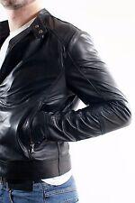 ★Giacca Giubbotto Uomo in di PELLE 100% Men Leather Jacket Veste Homme Cuir e4ae