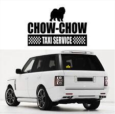 AYC Auto Aufkleber CHOW-CHOW Taxi Service Hunde Hundeaufkleber fun Siviwonder