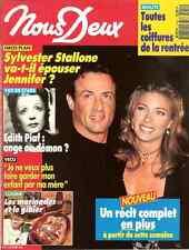 NOUS DEUX OCTOBER 1993 EDITH PIAF, STALLONE, MARCEL CERDAN, VG COND FREE SHIP
