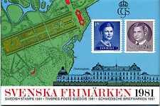 Svenska Frimärken 1981 Schweden Briefmarken ** Kompl. Jahrgang 1981 KI22107