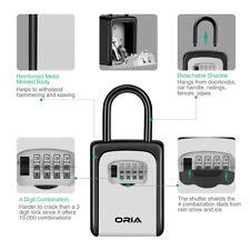 Padlock 4-Digit Combination Key Lock Storage Case Box Safety Security Organizer