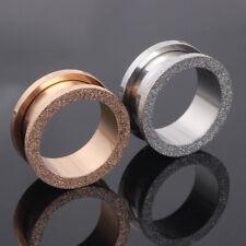 2X Silver Rose Gold Glitter Screw Fit Steel Double Saddle Ear Plug Flesh Tunnel