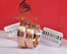 1 Paar Trauringe Hochzeitsringe Gold 333 Inkl. Außengravur - Ring Breite: 4,0 mm