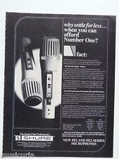retro magazine advert 1981 SHURE pe1 pe2