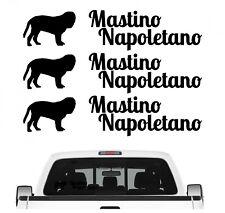 Mastino Napoletano Aufkleber 3er Set Hundeaufkleber Hundemotiv Hund Folie