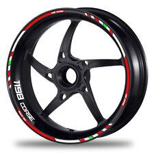 FELGENRANDAUFKLEBER passend für Ducati 1198 - GP rot-weiß