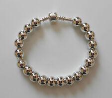 10 o 20 Plata Redondo Liso Acrílico encanto beads/spacers Fit pulsera Europea