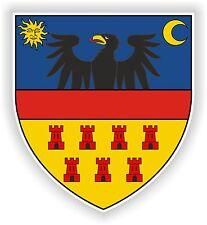 Transilvania escudo de armas de la etiqueta engomada Escudo Crest Rumanía Bandera Bumper Casco Camión