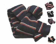 CRAVATTA IN MAGLIA BLU A RIGHE BIANCHE ROSSE cravatte VARIE blue tricot righette