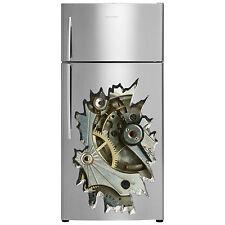 Horloge réfrigérateur 3d sticker autocollants 45cm x 65cm nombreux designs