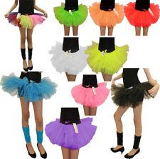 Girls 3 Layer Fluo 80 S Tutu Skirt Kids Mini Fancy Dance Party Skirt Tenue