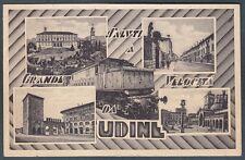 UDINE CITTÀ 54 SALUTI a Grande Velocità TRENO Cartolina