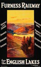 Vintage Lake District Furness Railway Poster Print A3/A4