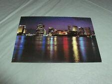 City Lights Mississippi River New Orleans La. Postcard