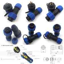 SP13 2 3 4 5 6 7 Pin Waterproof Connector,IP68 Aviation Bulkhead LED Plug Socket