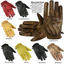 Vintage Sommer Handschuhe, Motorradhandschuhe, Vintage Retro Lackleder,S bis 3XL