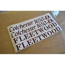 FLEETWOOD Colchester Caravan Name & Model Number Stickers Decals Graphics - SET