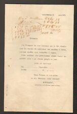 """SAINT-PATERNE (37) QUINCAILLERIE / LOCATION de BATTEUSE à VAPEUR """"ROULLEAU"""" 1873"""
