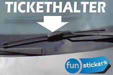 Tickethalter 15 cm x 3,7 cm Aufkleber Fun Sticker Strafzettel freie Farbwahl