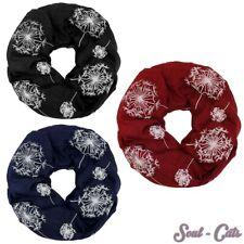 Loopschal Pusteblumen Halstuch Schal Löwenzahn rot schwarz dunkelblau