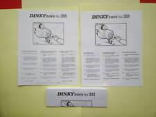DINKY 351 UFO  INTERCEPTOR (REPRO INSTRUCTION)