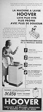 PUBLICITÉ HOOVER MACHINE A LAVER LAVE PLUS VITE PROPRE AVEC DE LA DOUCEUR