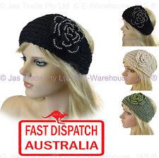 Pearl Beaded Crochet Handcrafted Knit Headband Winter Ear Warmer Head Hair Band