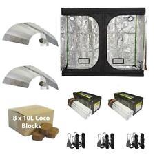 Hydroponic Complete Grow Tent Kit Dual Spectrum CFL Bulbs Coco Fabric Pots Mylar