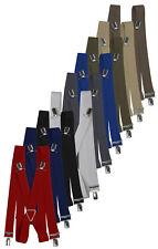 Hosenträger mit 4 Clips Metallkreuz Herrenhosenträger