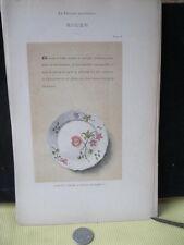 Vintage Print,ROUEN 8,Faience,1872,French,Litho