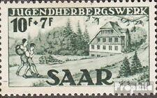 Saarland 263II Type II, Unterbrechung unter S postfrisch 1949 Jugendherberge