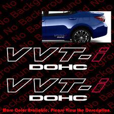 ONE PAIR x Toyota VVTI DOHC JDM/TRD Vinyl Graphic Car Window Decal Sticker TY004