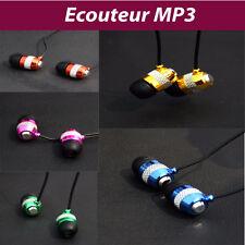 Écouteur MP3/MP3 casque intra-auriculaires 1.1M prise jack téléphone tablette