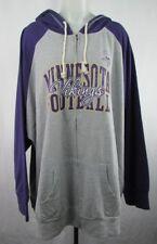 Minnesota Vikings Women s Gray Majestic Full Zip Distressed Print Hoodie NFL c8342bb50