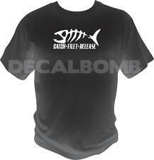 Catch - Filet - Release T-Shirt - boat rod trout bass muskie