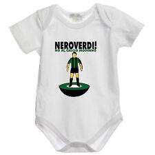 J834 body bimbo Sassuolo Ultras No al Calcio Moderno Neroverdi bianco 100%cotone