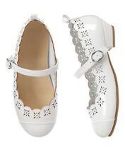NWT Gymboree Egg Hunt White Scalloped Dress Shoes  10 12 1 2 3 Girl