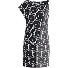 DVF Diane Von Furstenberg POSIE Asymmetric Silk Jersey Dress Pop Daisy Blck $385