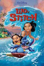 Lilo & Stitch Cartoon Poster personnage Art Imprimer | Tailles A0 à A4 | Vendeur Britannique