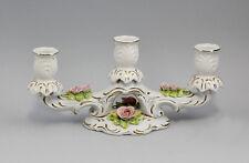 Porzellan Leuchter handmodellierte Rosen 29x13cm 9941193