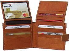 Genuine Cowhide Leather Men's Wallet Brown, Tan # 4592-L