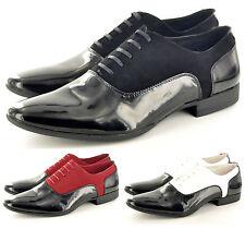 Hommes Élégant Faux Daim & Verni Habillé À Lacets Chaussures Mariage En