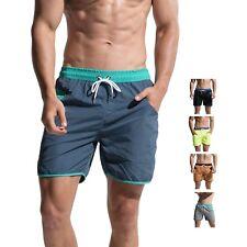 Men's  Pocket Board shorts Beachwear swimming shorts swimsuit  solid color