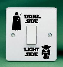 "1.8"" DARK SIDE LIGHT SIDE Vinyl Decal Light Switch Sticker Laptop Star Wars Yoda"