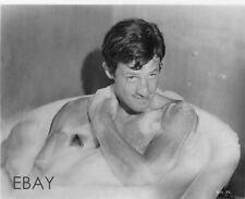 John Paul Belmondo barechested in tub VINTAGE Photo