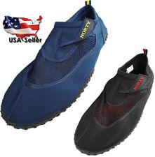 Norty Mens Big Sizes 13-15 Water Wave Aqua Sock Shoe Pool Beach Surf Slip On