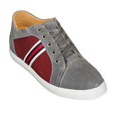 CALTO J9102 - 2.4 Inches Elevator Height Increasing Grey & Metallic Red Shoe